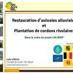 Présentation de Julie Lebeau sur le Life BNIP lors du comité de rivière du 06.02.18